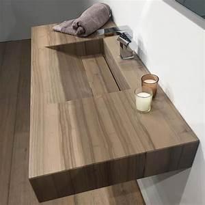 plan vasque salle de bain suspendu 101x46 cm pierre stonewood With plan sous vasque salle de bain