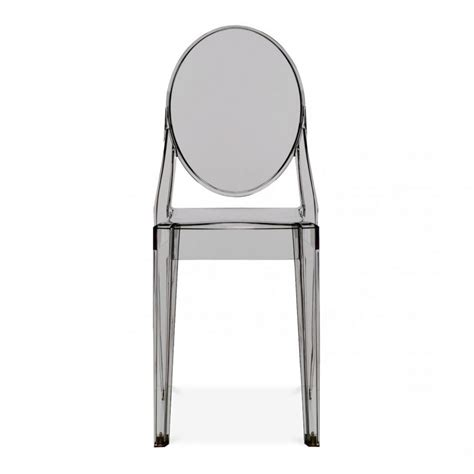 chaise starck transparente ghost style smokey dining chair cult uk
