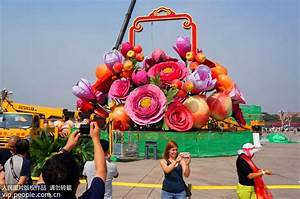 Giant flower basket installed to mark upcoming National ...