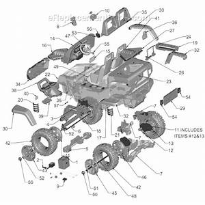 Power Wheels K7112 Parts List And Diagram