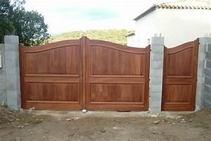 Lapeyre Portail Bois : portail bois massif lapeyre portail pvc expression maison ~ Premium-room.com Idées de Décoration