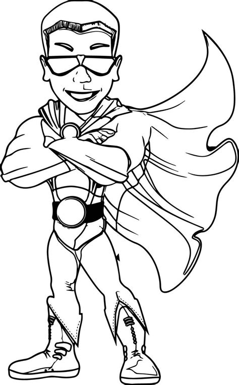 Cool Superhero Character Coloring Page Also see the