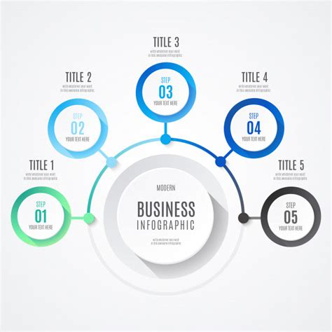 modern business infographic  blue colors vector