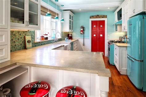 canisters for the kitchen awesome turquoise kitchen with chiars blenko glass