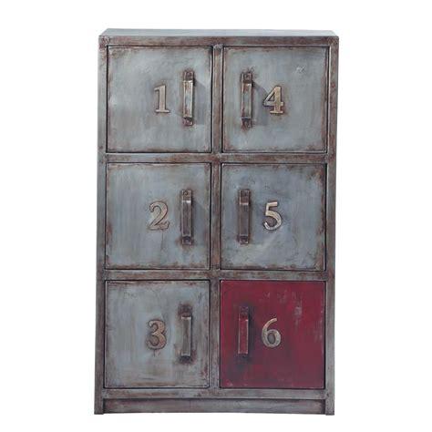 de rangement metal cabinet de rangement en m 233 tal effet vieilli l 67 cm newton maisons du monde