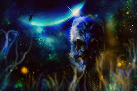 Animal Magic Wallpaper - black wolf hd wallpaper and hintergrund 1980x1320
