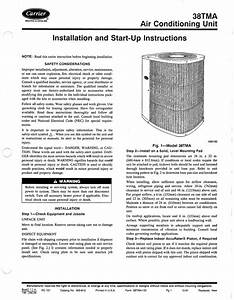 Carrier 38tra Air Conditioner User Manual