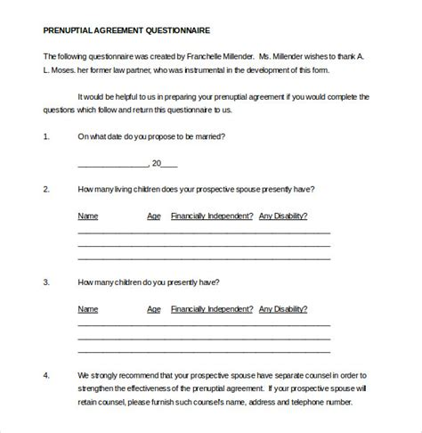 Free Prenuptial Agreement Template Canada by Free Prenuptial Agreement Template Canada 10 Prenuptial