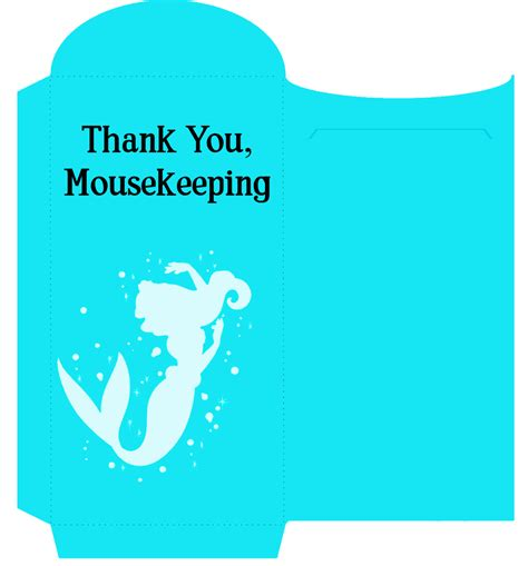 printable customizable  cute mousekeeping tip envelopes