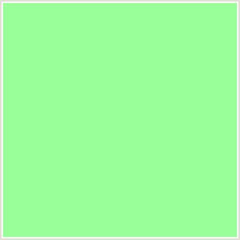 99ff99 hex color rgb 153 255 153 green mint green