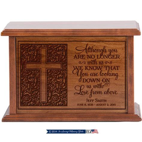 personalized cremation urn  asheswood