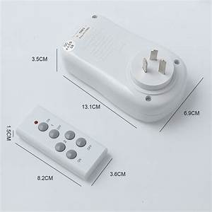 Wireless Remote Control Power Point Plug Controller Outlet