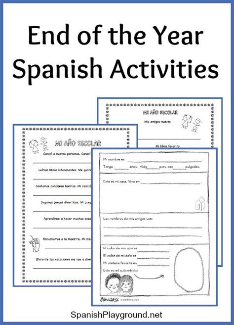 year spanish activities spanish playground