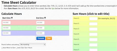 telecharger time worked calculator
