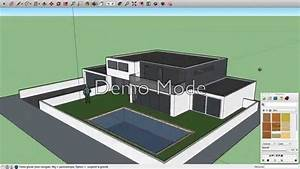 sketchup maison moderne youtube With plan maison google sketchup