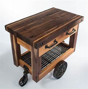 Butcher's Block Cart - Eclectic - Kitchen Islands And