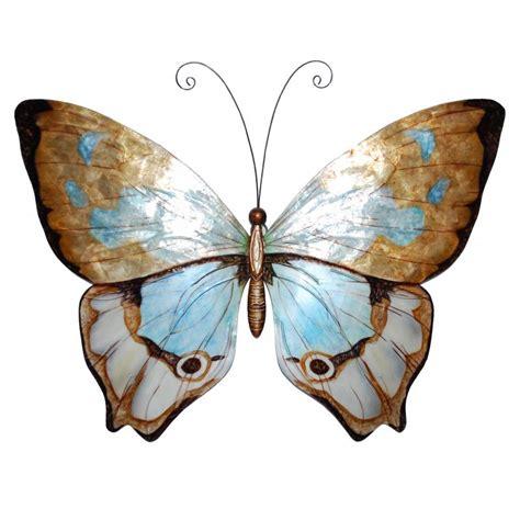 eangee butterfly wall decor copper  aqua working wonders