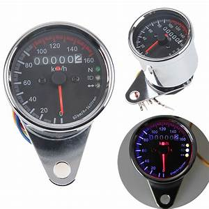 Motorcycle Odometer Speedometer Gauge Meter Led Backlight