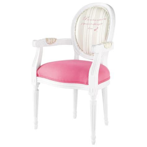 fauteuil cabriolet en bois blanc et coton louis maisons du monde