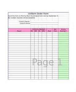 Excel Form Templates Excel Order Form Template 8 Free Excel Documents Free Premium Templates