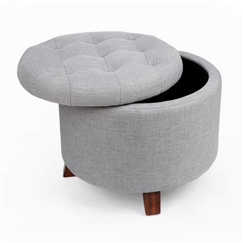 Ottoman Foot Stool by Soft Footstool Storage Ottoman Stool With Button