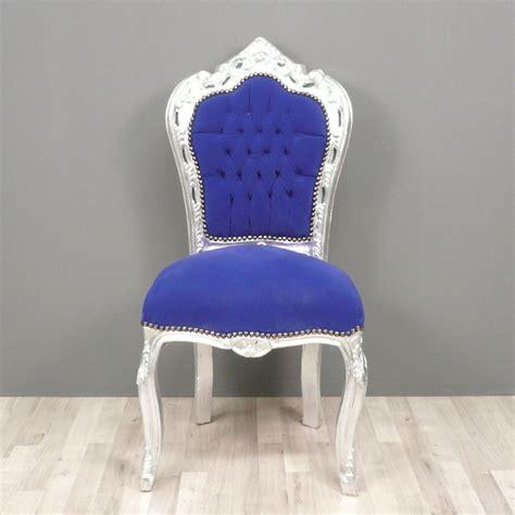 chaise bleue baroque blue chair chairs baroque