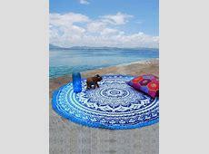 Mandala Lace Splicing Round Beach Blanket Fairyseason