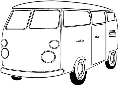 van transport bus coloring page wecoloringwecoloring