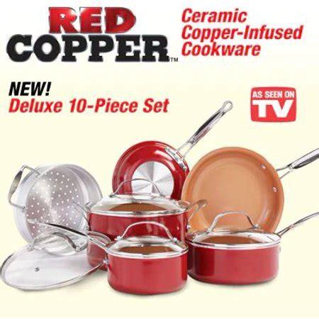 red copper    tv copper pan  piece set  purpose ceramic nonstick pan skillet