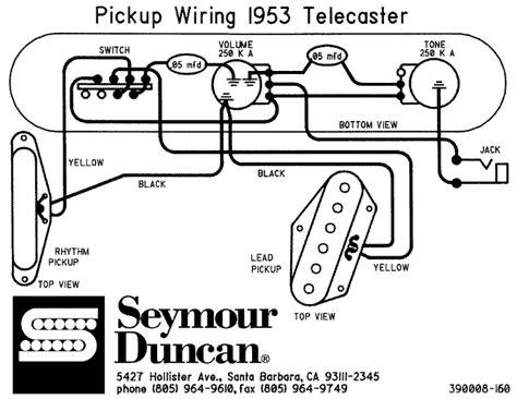schema de montage cablage pour guitare fender telecaster