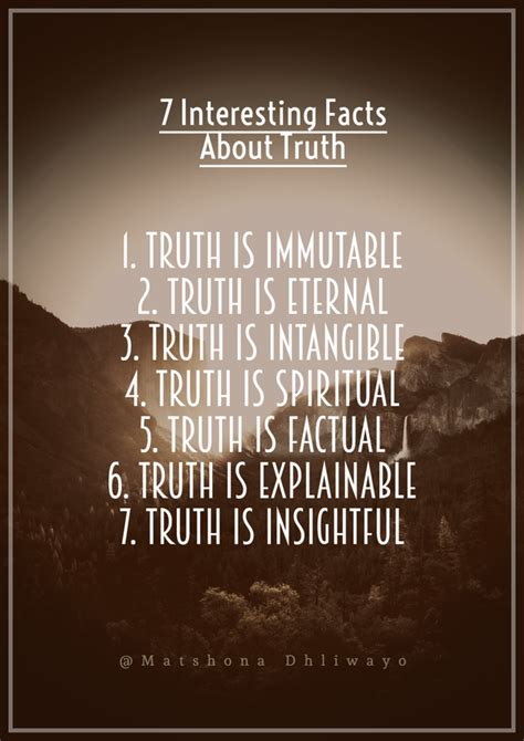 What are some interesting facts about truth? - Quora