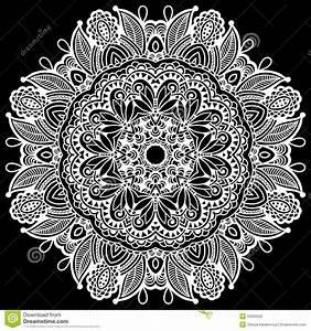 Black And White Beautiful Vintage Circular Pattern Stock ...