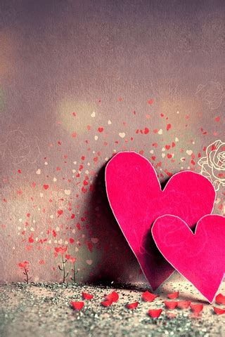 Iphone5 wallpaper, cell phone wallpaper, background. Download Cute Together Hearts iPhone Wallpaper - Mobile Wallpapers - Mobile Fun