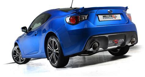 subaru brz exhaust milltek releases full exhaust details for the toyota gt86