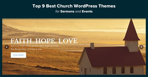 Top 15 Best Church Wordpress Themes For Sermons & Events 2018