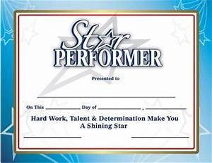 recognition certificates star performer certificates With star performer certificate templates