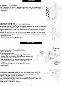 Craftsman 706596313 1106454l User Manual Tool Chest