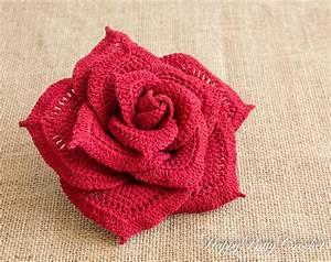 Crochet Rose Flower - Large Centerpiece by Happy Patty