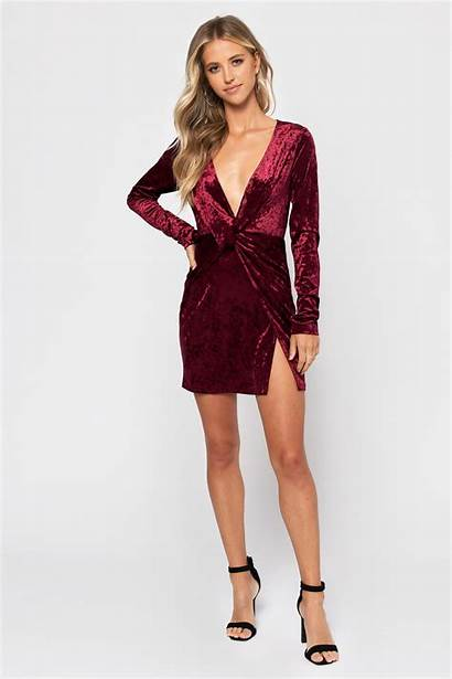 Bodycon Velvet Snow Dresses Wine Fitted Lace