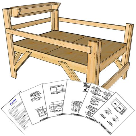 loft bed woodworking plans buy bunk bed plans