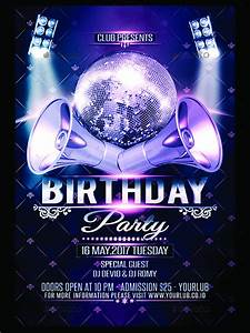 Printable Birthday Party Flyer Template