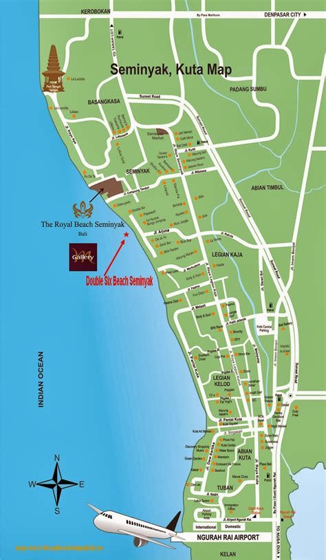 detail double  beach seminyak bali location map bali