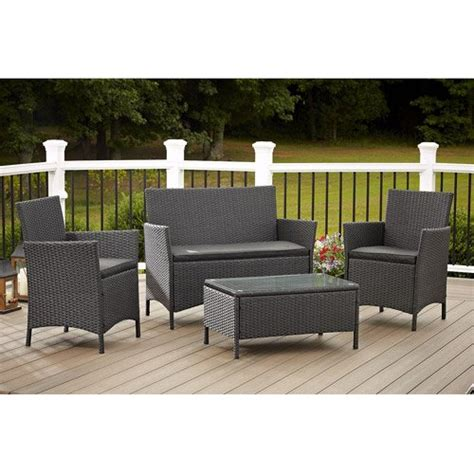 cosco outdoor jamaica 4 resin wicker patio