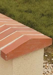 chaperons de murs terre cuite saget With finition dessus de mur exterieur