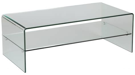 table basse rectangulaire en verre 1 rayon table basse