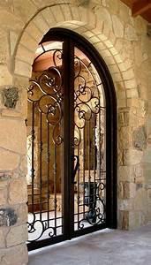 Porte en fer forge plus de 40 modeles fascinants for Couleur facade maison moderne 19 porte en fer forge plus de 40 modales fascinants