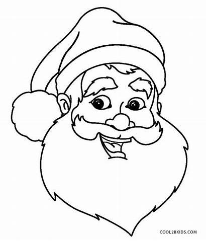 Santa Coloring Face Pages Printable Outline Makeup