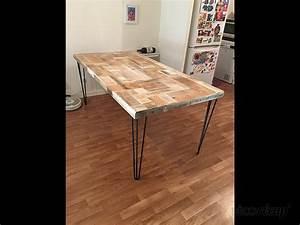 Pied De Table En épingle : table de salle manger par id co cr ation ~ Dailycaller-alerts.com Idées de Décoration