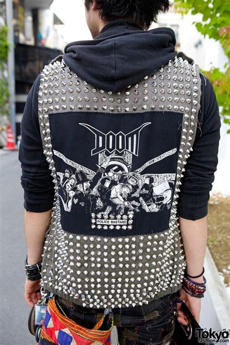 crust punk patch pants disk union bag studded vest