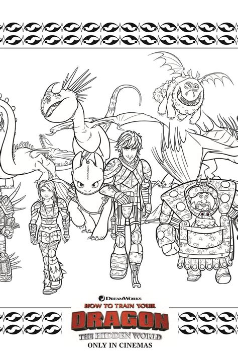 printable httyd coloring page   train